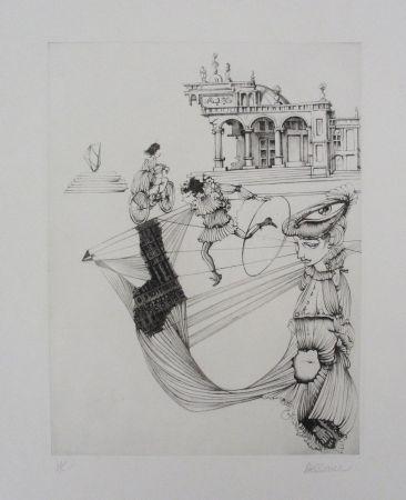 Офорт И Аквитанта Bellmer - Filles Et Cerceau