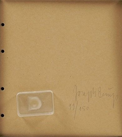 Многоэкземплярное Произведение Beuys - Fingemagelabdruck aus geharteter butter