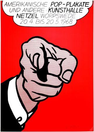 Сериграфия Lichtenstein - Finger Pointing (Hey You!)