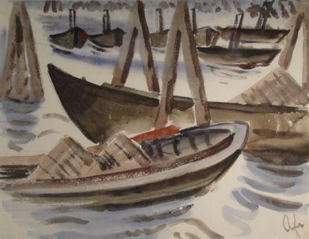 Монотип Fleischmann - Fischerboote im Hafen