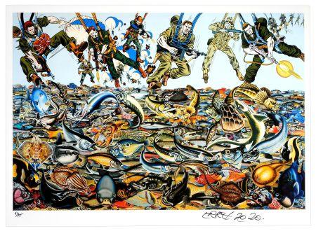 Цифровой Эстамп Erro - Fishlandscape