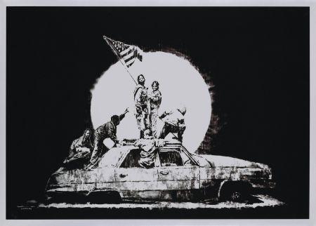 Сериграфия Banksy - FLAG (SILVER)