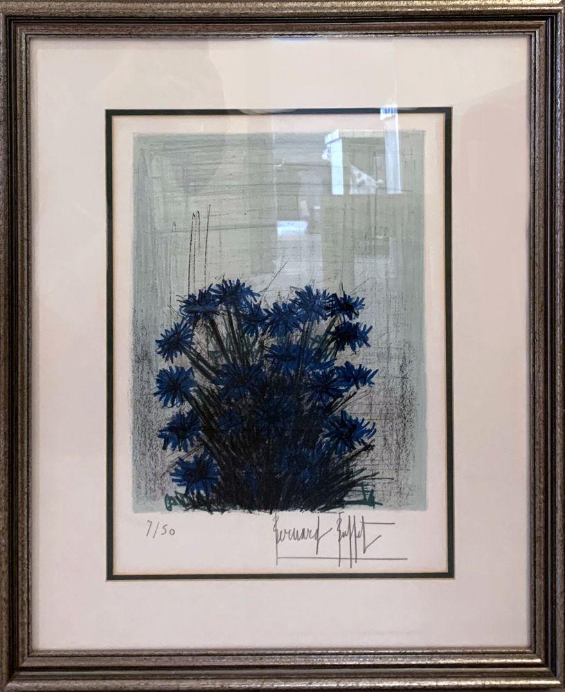 Литография Buffet - Fleur Bleu (Blue Flowers)