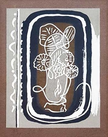 Гравюра На Дереве Braque - Fleurs blanches