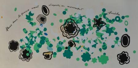 Литография Baj - Fleurs dans la prairie