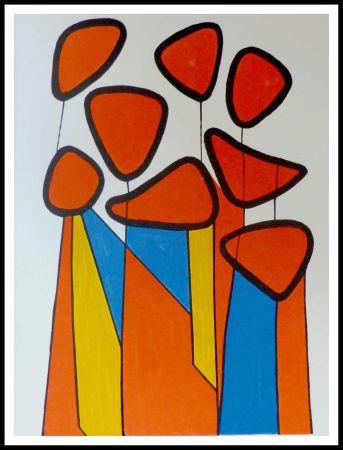 Литография Calder - Fleurs de courge
