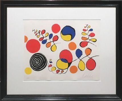 Литография Calder - Floating Helix