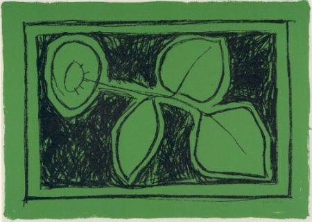 Литография Joan Hernández - Flor sobre verd