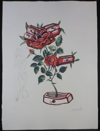 Гравюра Dali - Florals Rose