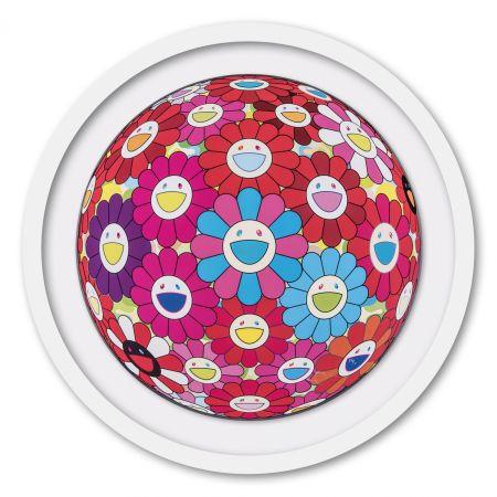 Гашение Murakami - Flower Ball (3D) Blue Red
