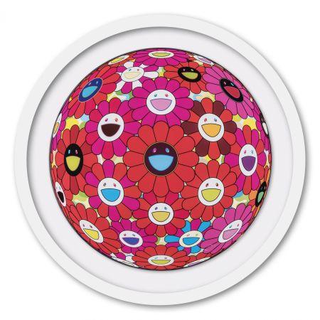 Гашение Murakami - Flower Ball (3D) Red, Pink, Blue