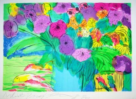 Литография Ting - Flowers 1