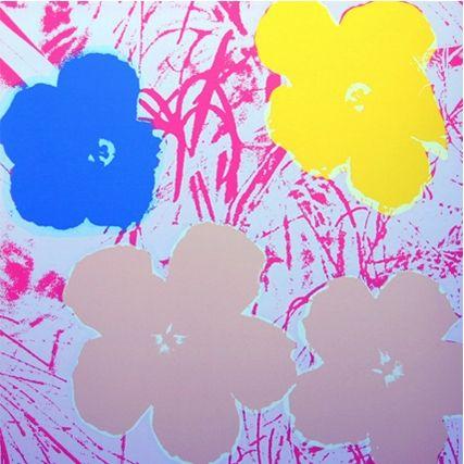 Сериграфия Warhol (After) - Flowers (by Sunday B. Morning)