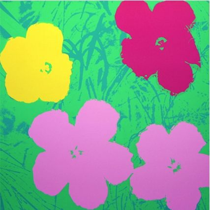 Сериграфия Warhol (After) - Flowers (by Sunday B. Morning)