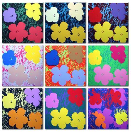 Сериграфия Warhol (After) - Flowers Set of 10 (by Sunday B. Morning)