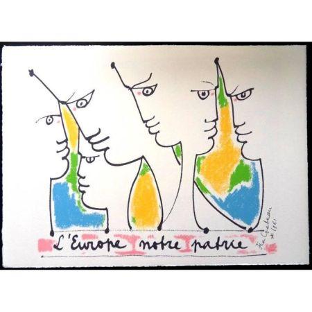 Литография Cocteau - Fondateurs de l'europe