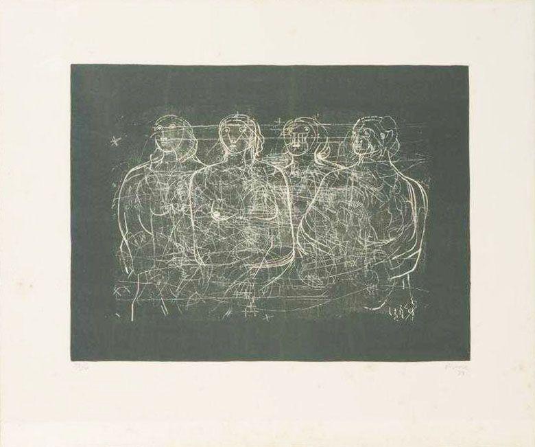Литография Moore - Four Grey Ladies