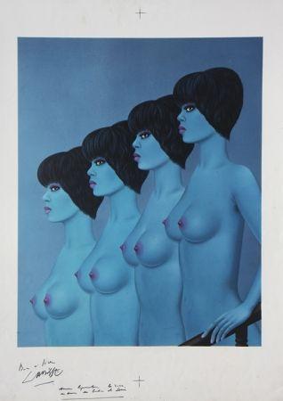 Литография Labisse - Four Nudes Descending Stairs (BAT)