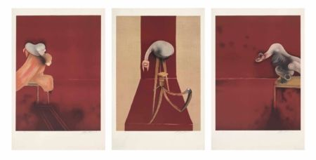 Литография Bacon - FRANCIS BACON, SECOND VERSION OF TRIPTYCH