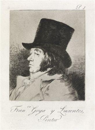 Офорт И Аквитанта Goya - Francisco Goya y Lucientes, Pintor.  / Self-Portrait of Goya