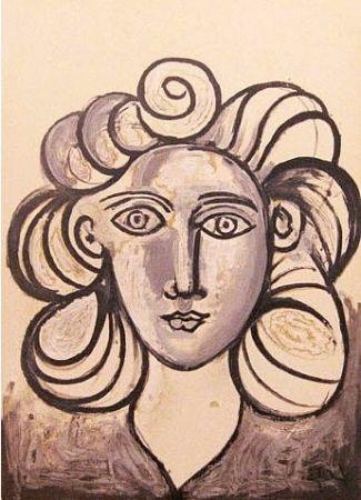 Литография Picasso - Francoise Gilot 2