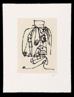 Офорт И Аквитанта Saura - Frauen Portrait mit Hut 3