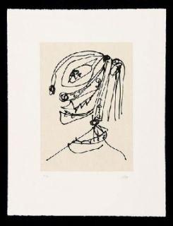 Офорт И Аквитанта Saura - Frauen Portrait mit Hut 4