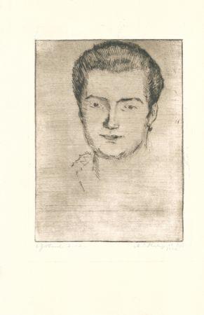 Гравюра Philipp - Frauenbildnis