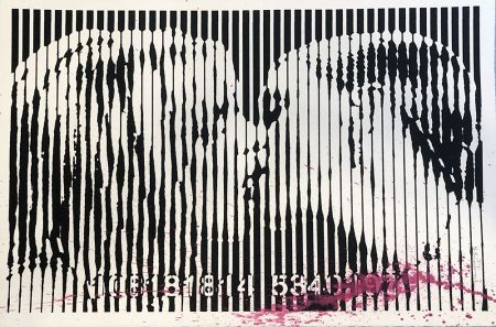 Сериграфия Mr. Brainwash - Freedom Kiss (Pink Splash)