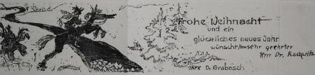 Гравюра На Дереве Grabosch - Frohe Weihnacht