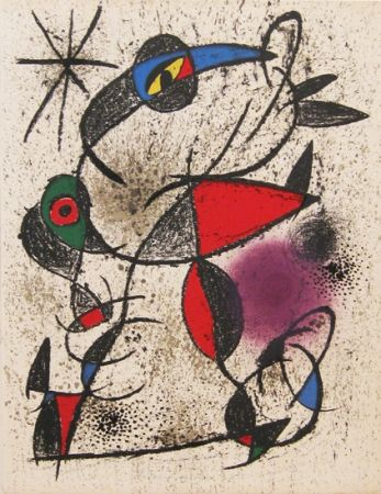 Литография Miró -  From The Deluxe Book : Souvenirs et Portraits d'Artistes
