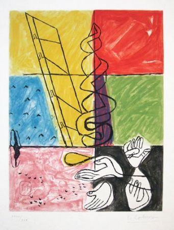 Офорт И Аквитанта Le Corbusier - From Unite Suite #11b