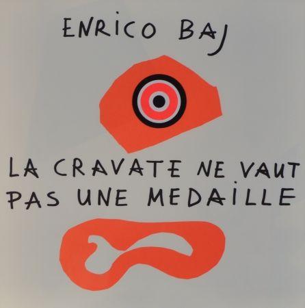 Литография Baj - Frontespizio – La cravate ne vaut pas une médaille