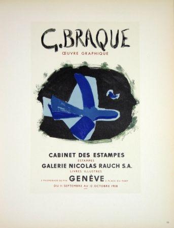 Литография Braque - G. Braque  Oeuvres Graphiques Nicolas Rauch  Genéve  1958