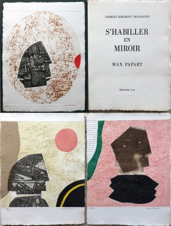 Офорт И Аквитанта Papart - G. Ribemont Dessaignes : S'HABILLER EN MIROIR (1977).