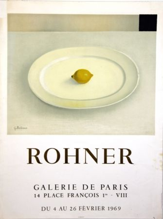 Литография Rohner - Galerie de Paris