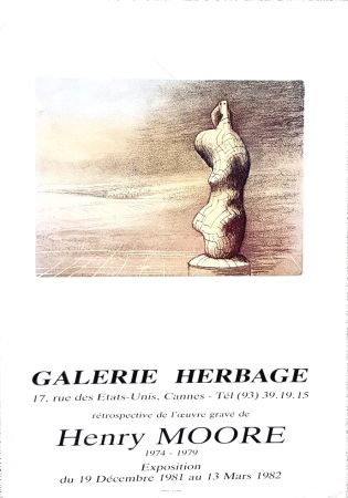 Гашение Moore - Galerie Herbage  Cannes