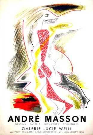 Литография Masson - Galerie Lucie Weill 1968