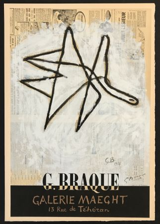 Литография Braque - Galerie Maeght