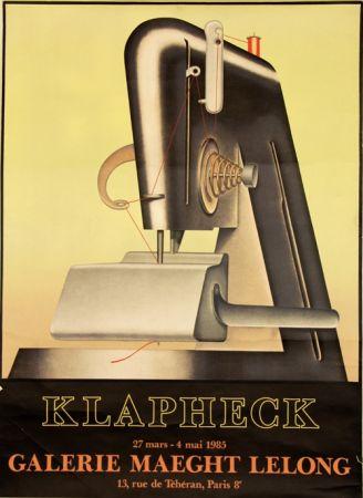 Литография Klapheck - Galerie Maeght Lelong