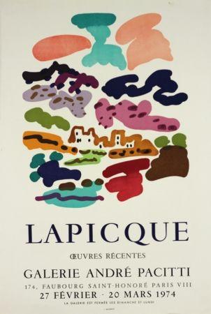 Литография Lapicque - Galerie Pacitti