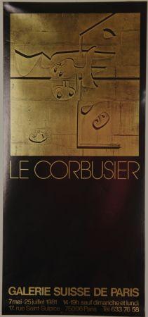 Литография Le Corbusier - Galerie Suisse de Paris Juillet 1981