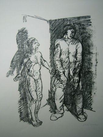 Литография Schinnerer - Gefangener (Prisoner)