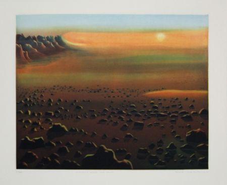 Офорт И Аквитанта Maibaum - Genesis:  Wüste und Sonne