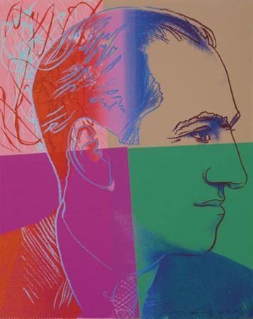 Сериграфия Warhol - George Gershwin (FS II.231) Trial Proof