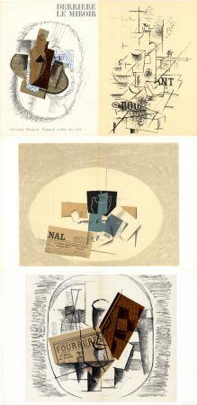 Иллюстрированная Книга Braque - GEORGES BRAQUE. Papiers collés 1912-1914. Derrière le Miroir n° 138. Mai 1963.