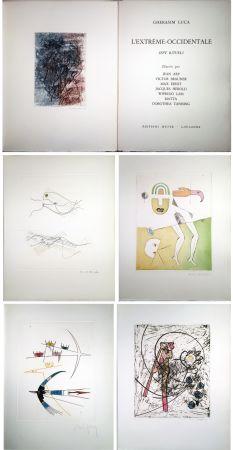 Иллюстрированная Книга Matta - Gherasim Luca : L'EXTRÊME-OCCIDENTALE. Gravures de Max Ernst, Victor Brauner, Dorothea Tanning, Hans Arp, Jacques Hérold, Wifredo Lam, Roberto Matta.