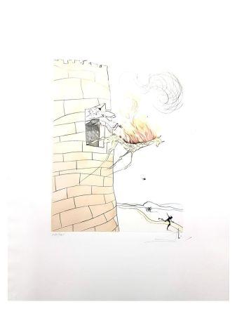 Литография Dali - Girafe en Flamme