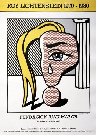 Нет Никаких Технических Lichtenstein - Girl with Tear III Poster (Hand Signed)
