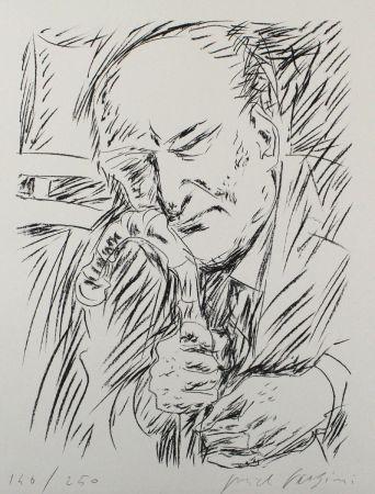 Литография Fazzini - Giuseppe Ungaretti